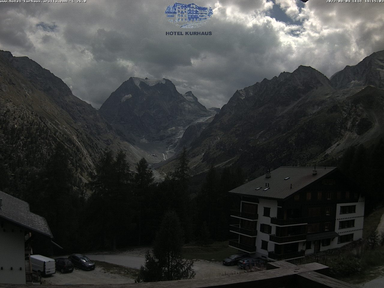 Arolla Webcam Vue sur le Mont Collon