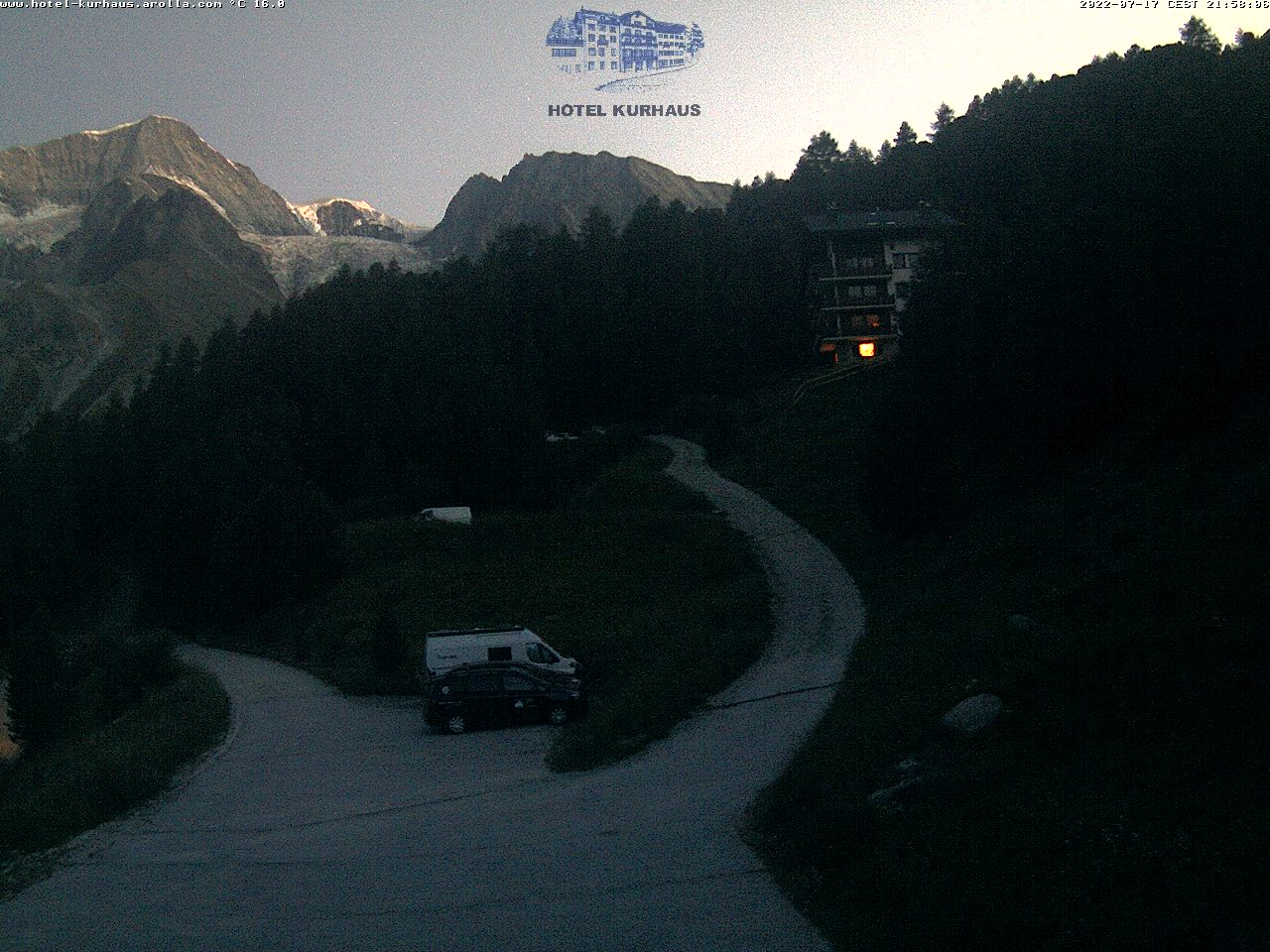 WEBCAM AROLLA, Vue sur le Pigne d'Arolla