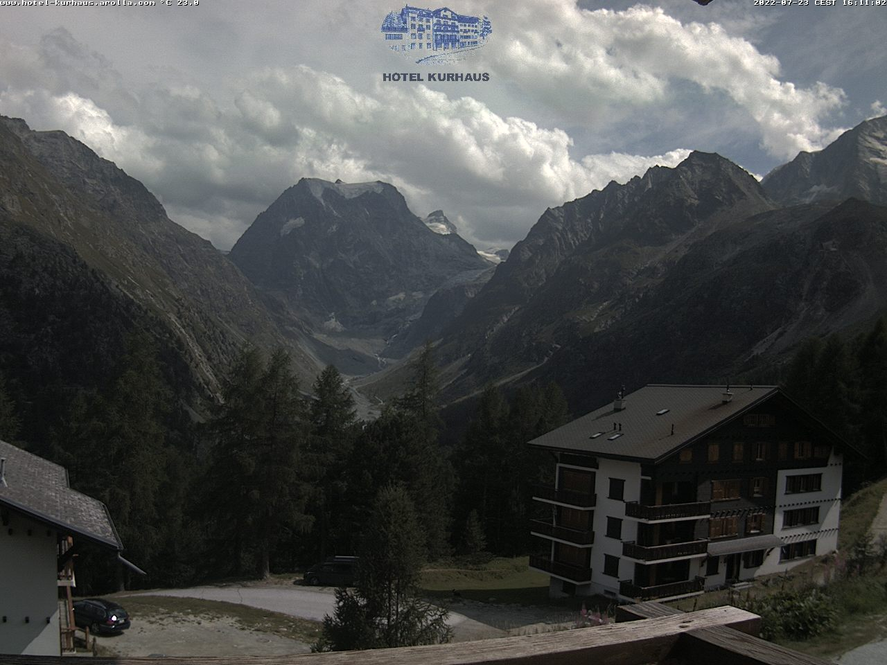 Webcam Arolla, Mont Collon